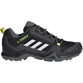 adidas TERREX AX3 Chaussures de randonnée Léger Homme, core black/footwear white/acid yellow
